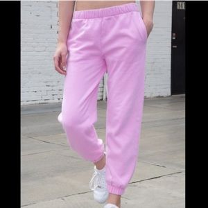 Brandy Melville bubblegum pink Rosa sweatpants